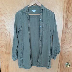J. Jill Army Green Button Down Top Size XS